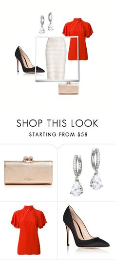 """""""Letizia 1"""" by lilllus09 on Polyvore featuring Ted Baker, Kate Spade, Lanvin, Gianvito Rossi and St. John"""