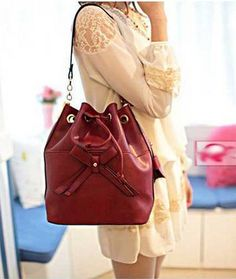 Korean Style Fashion Bowknot Bucket Single Shouleder Bag