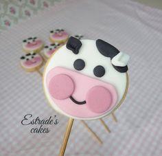 Estrade's cakes: galleta de vaca, con palo.