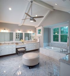 Bathroom With Makeup Vanity Design Ideas, Pictures, Remodel and Decor