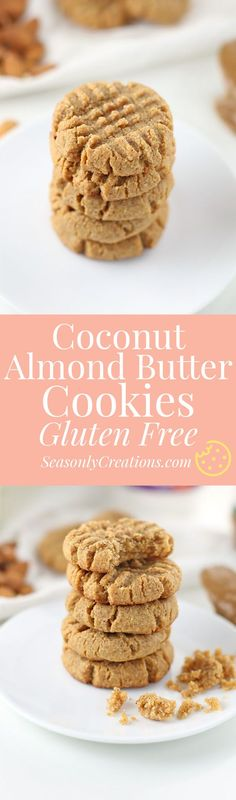 Chewy, coconut almond butter cookie recipe made with ingredients from ShopRite's Wholesome Pantry line! This is a gluten-free, low sugar cookie recipe you can enjoy in less than an hour! Low Sugar Cookies, Low Sugar Snacks, Low Sugar Desserts, Sugar Cookies Recipe, Gluten Free Cookies, Dessert Recipes, Healthy Desserts, Cookie Recipes, Keto Recipes