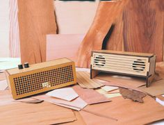 A series from Chilean design firm GrupoVibra, these speakers have a nice blend of retro and modern design elements, and are created with wood harvested fro