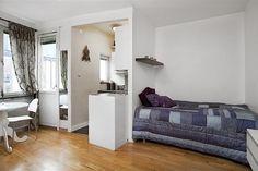 Tiny Stockholm Apartment with Smart Floor Plan - http://freshome.com/2011/08/09/tiny-stockholm-apartment-with-smart-floor-plan/