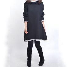 black cotton sweater knitwear large knitted sweater von seasons2000, $59.00