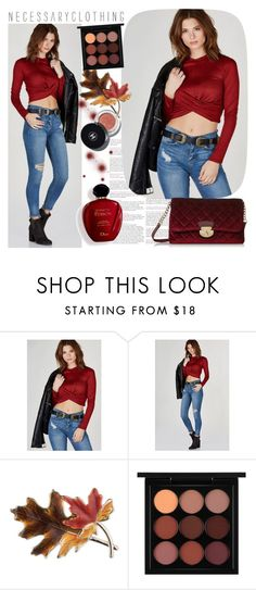 """""""Necessary Clothing"""" by gaby-mil ❤ liked on Polyvore featuring Satine, Anne Klein, MAC Cosmetics, Chanel and NECESSARYCLOTHING"""
