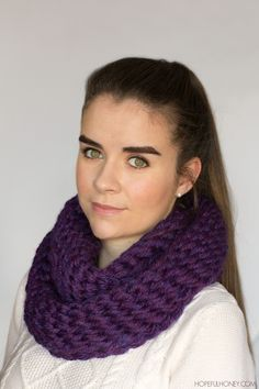 Chunky Finger Crocheted Scarf - Free Pattern                                                                                                                                                                                 More