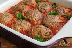 Receita de Almôndegas ao molho de tomate em Carnes, veja essa e outras receitas aqui!