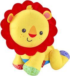 Babyspielzeug - Krabbelspaß Löwe - Aus kuschelweichem Plüsch Spielt fröhliche Musik Krabbelt vorwärts, rückwärts und seitwärts Fördert Feinmotorik, Balance und Koordination des Babys, stimuliert seine Sinne Ab 9 Monaten