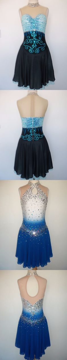 Skating Dresses-Girls 21226: Custom Made New Figure Dance Ice Skating Dress Costume -> BUY IT NOW ONLY: $185 on eBay!