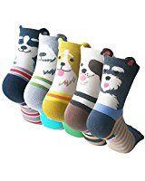 Oureamod Cartoon Animal Womens Girls Cotton Crew Socks 5 Pack Totoro at Amazon Women's Clothing store: