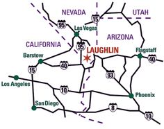 Map to Laughlin Nevada
