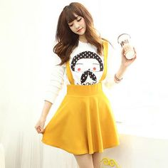 Buy 'Dodostyle – A-Line Jumper Skirt' with Free International Shipping at YesStyle.com. Browse and shop for thousands of Asian fashion items from South Korea and more!