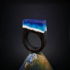 Drevený prsteň: Bifröst no. Wooden Rings, Silver Rings, Jewelry, Wood Rings, Jewlery, Jewerly, Schmuck, Jewels, Jewelery