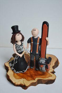 Feuerwehr Brautpaar Mit Kind Tortenfigur Fur Die Hochzeitstorte