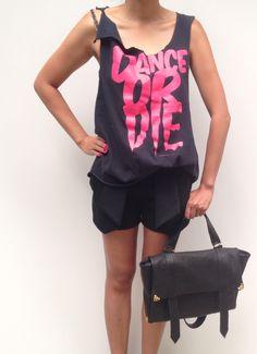 Dance or Die Cut Up Tees, Zara Shorts, Dance, Tank Tops, Concert, Bag, Women, Fashion, Dancing