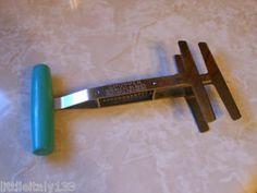 "Vintage Foley Hand Held Turquoise Wood Handle Food Chopper 7 1 2"" | eBay"
