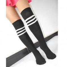High Elasticity Girl Cotton Knee High Socks Uniform Yellow Cole Flowers Women Tube Socks