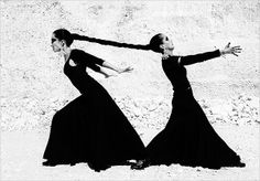-inner struggle is a matter of pulling against yourself.  Detach, turn and face yourself and embrace what you see:quote by ceeanne lei. Image by Ruven Afanador's Women of Flamenco