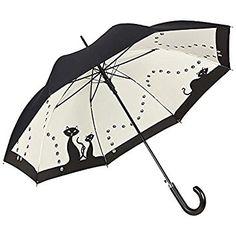 Paraguas automático con motivo gatos con doble revestimiento