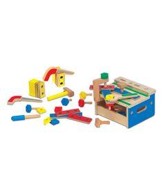 Look what I found on #zulily! Melissa & Doug Hammer & Saw Tool Bench Toy Set #zulilyfinds