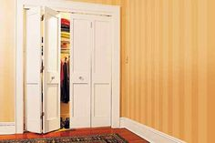 6 Closet Door DIY Transformations | Closet doors, Diy wood and Doors