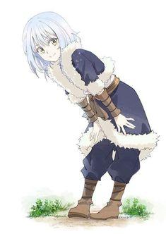 Rimuru Tempest Kawaii Anime Girl, Anime Art Girl, Anime Eyes, Manga Anime, Slime, Blue Hair Anime Boy, Character Bank, Manga Cute, Female Anime