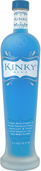 Kinky Blue is a cool blue fusion of super premium vodka distilled 5 times with tropical and wild Fruity Drinks, Refreshing Drinks, Yummy Drinks, Fruity Liquor, Blue Drinks, Yummy Food, Best Alcohol, Alcholic Drinks, Alcoholic Beverages