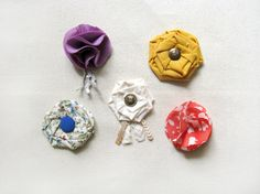 DIY Fabric Flower Brooches