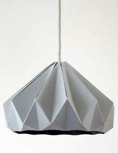 Studio Snowpuppe - origami inspired paper light shade range is stunning!