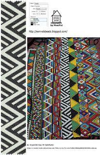 Geometric Band Pattern ___ Peyote Stitch ___ NemVal gyöngyei: pénteki PEYOTE parádé