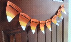 Candy Corn Garland from a paper plate!
