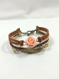 Flower and wing bracelet set, Arm candy cuff, arm candy set, on Etsy, $8.00