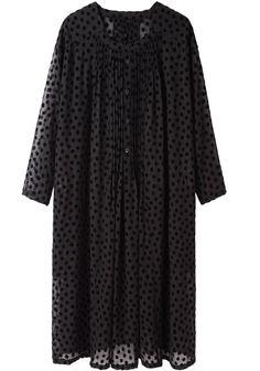Zucca / Chiffon Dot Dress | La Garçonne