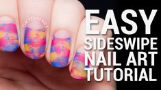 TUTORIAL: Easy Sideswipe Nail Art with Negative Space
