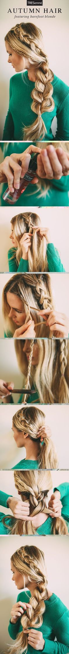 DIY – Nice Blonde Hairstyle – Step by Step Hair Tutorial #diy