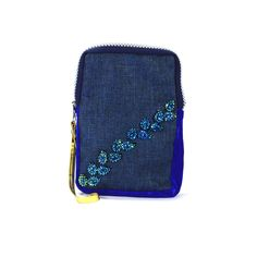 Elegant Blue Cotton Women /Girls Hand Made Mobile Cover Christmas Auction Sale #ArishaKreationCo