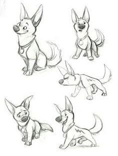 Character Design- Bolt || CHARACTER DESIGN REFERENCES | Find more at https://www.facebook.com/CharacterDesignReferences if you're looking for: #line #art #character #design #model #sheet #illustration #best #concept #animation #drawing #archive #library #reference #anatomy #traditional #draw #development #artist #how #to #tutorial #conceptart #modelsheet #animal #animals #dog #wolf #fox #dogs