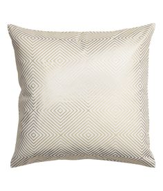 Check this out! Cushion cover in cotton twill with a shimmery metallic printed pattern. Concealed zip. - Visit hm.com to see more.