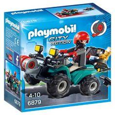 PLAYMOBIL City Action bandiet en quad met lier 6879