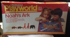 """RARE! Vintage (c. 1984) """"Noah's Ark"""" board game published by Waddingtons Playworld.  100% Complete!  Wooden pieces!"""