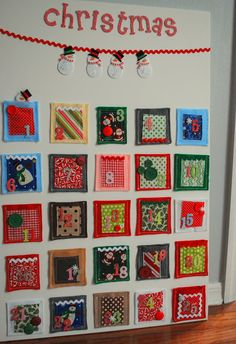 Advent Calendar - makes me think of a quilt, with flaps that would open to reveal the verses for the day...