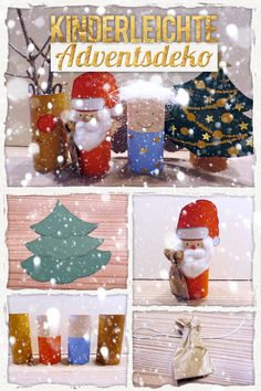 Weihnachtsdeko aus Klorollen. So einfach! Christmas Fun, Xmas, Snow Globes, Diy Crafts, Creative, Inspiration, Home Decor, Kindergarten, Bricolage Noel