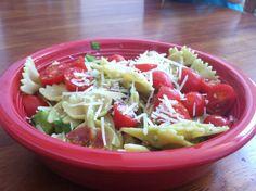 basil bacon bowtie pasta salad