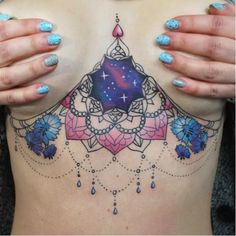Stunning Under Boob Tattoos For Women Tattoos For Women On Thigh, Unique Tattoos For Women, Chest Tattoos For Women, Best Tattoo Designs, Tattoo Sleeve Designs, Tattoo Designs For Women, Sleeve Tattoos, Circle Tattoos, Body Art Tattoos