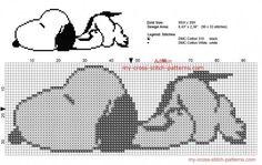 http://my-cross-stitch-patterns.com/snoopy_sleeping_free_peanuts_cross_stitch_pattern_small_size.html #needlepoint