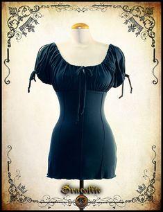 Blouse Viking médiéval- Chemise steampunk pour GN (grandeur nature), costume…