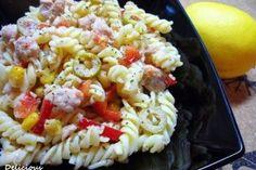 Salata cu paste si ton - Culinar.ro Pasta Salad, Cooking Recipes, Ethnic Recipes, Food, Salads, Crab Pasta Salad, Eten, Meals