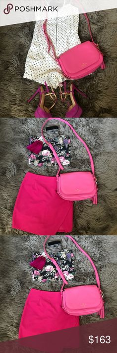 Fun crossbody handbag! Kate spade ♠️ beautiful crossbody can fit your personal belongings and your phone 📱  💄 etc  Fun to carry around the town or on a date  Perfect for your next girls trip kate spade Bags Crossbody Bags