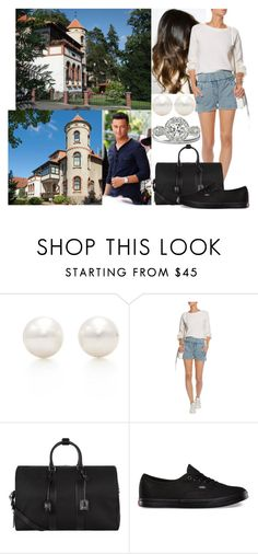 """Honeymoon Day 1: Flying to the island of Rügen and arriving at their rented Villa Wiking Hall"" by astridavhessenstein ❤ liked on Polyvore featuring Tiffany & Co., Helmut Lang, Yves Saint Laurent and Vans"
