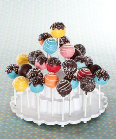 White Tiered Cake Pop Display Stand by Nordic Ware